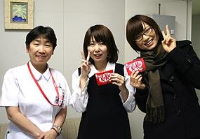 山田看護部長と一緒に
