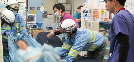 民間病院トップクラスの救急受入